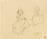 Study of two seated Girls -