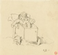 Study of a Girl in a pram -