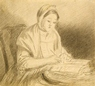 Study of a Woman writing -
