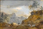 Travellers in a Mountainous Landscape -